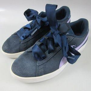 PUMA Smash v2 Ribbon Jr Sargasso Sea Shoes 4.5C